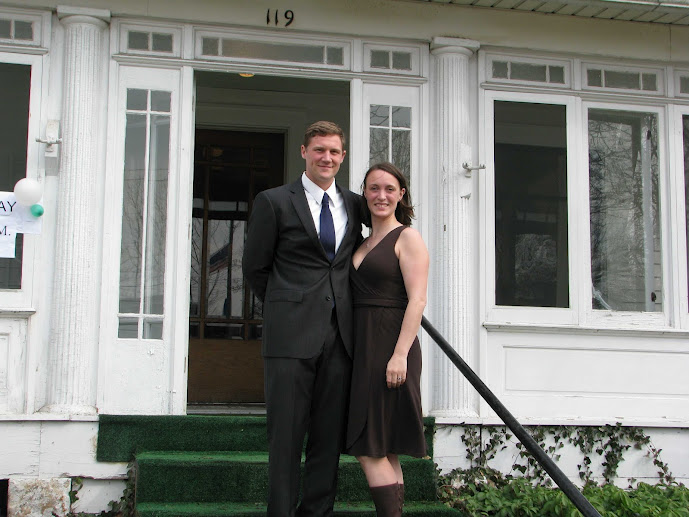 Sarah and Jeff Mussman at the Mussman Law Office open house, March 2012